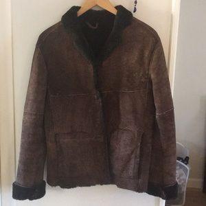 Jackets & Blazers - Faux shearling brown coat